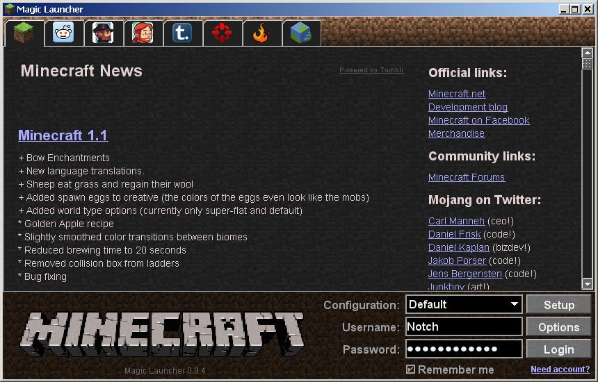 Minecraft универсальный лаунчер скачать
