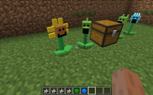 Посаженные растения в игре Minecraft