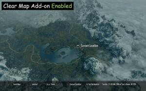 Облака на карте отключены