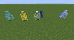 Несколько мобов в Minecraft