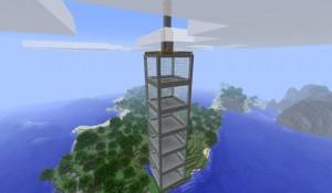 Высокое строение в Minecraft
