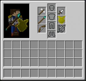 Интерфейс снаряжения игрока