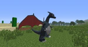 Использование покемона в игре Minecraft