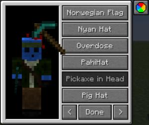 Шляпы в игре Minecraft для игроков