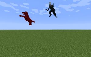 Прыжок и взлет злых мобов в Minecraft