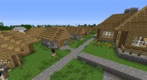 Колония рабочих в игре Minecraft