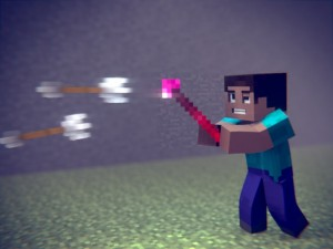 Мощное оружие в Minecraft