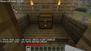 Денежный перевод в Minecraft