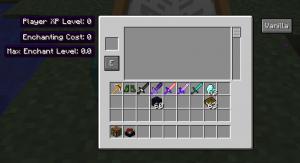 Окно интерфейса Minecraft
