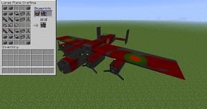 Пример модели самолета в Flans Mod