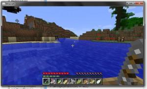 Много рыбы в игре Minecraft