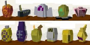 Маленькие персонажи в Minecraft