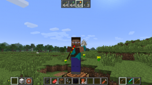 Игрок держит два вида оружия