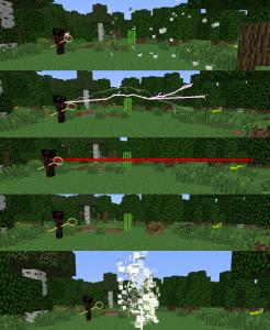 Эффект от магической силы в Minecraft