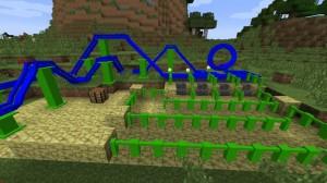Разные типы аттракционов в игре Minecraft
