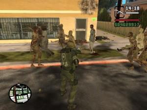 Военные и зомбаки в GTA SA