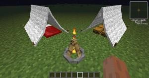 Установка палаток в Minecraft
