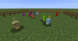 Персонажи из Соника в Minecraft
