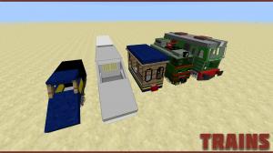 Примеры поездов в Minecraft