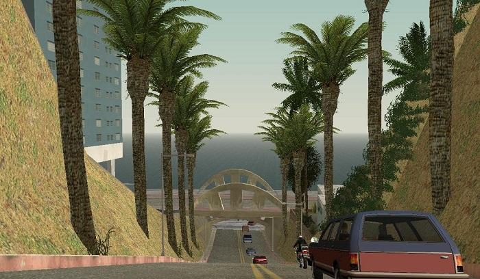 Добавленные в Лос-Сантос пальмы