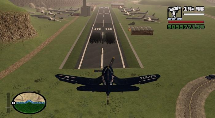 Вид на аэропорт с приземляющегося аэропорта