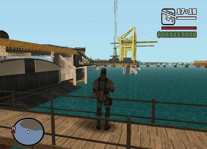 С мостика хорошо видна окружающая местность
