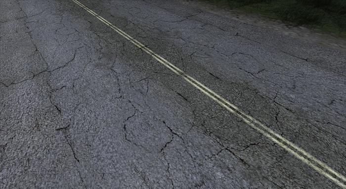 Текстура дорог при использовании RoSa