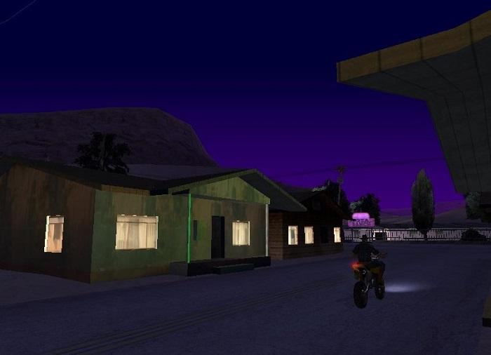 В окнах домов по вечерам горит свет
