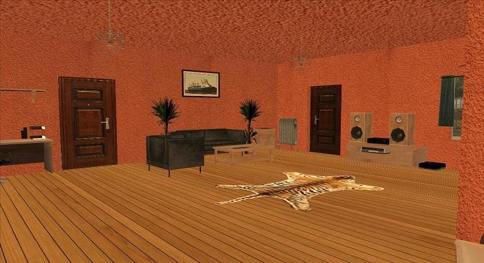 Довольно большая часть дома осталась без мебели.Вероятно, это один из основных недостатков модификации
