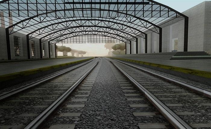 Железнодорожное полотно в Сан-Фиерро
