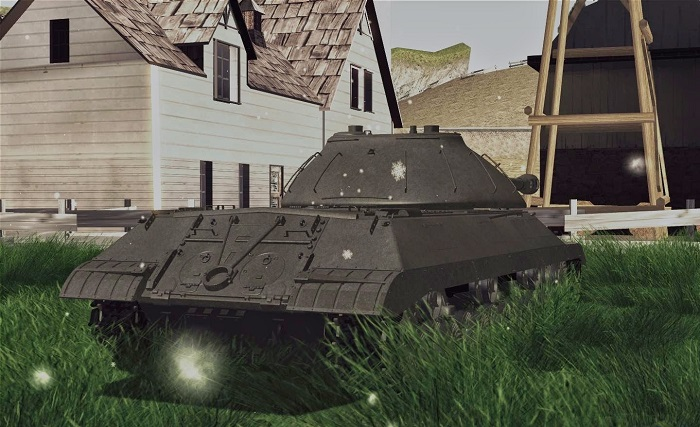 Модель танка вблизи