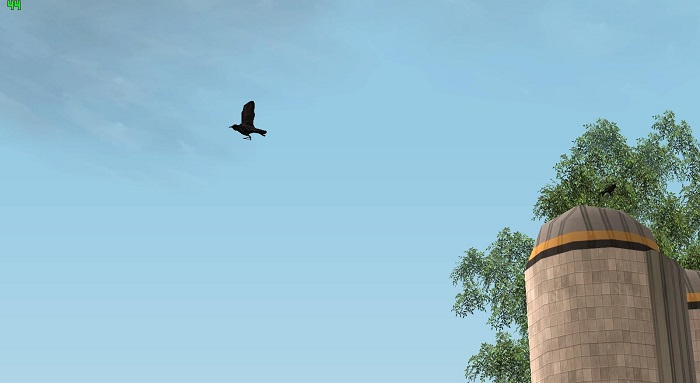 Ворона издали