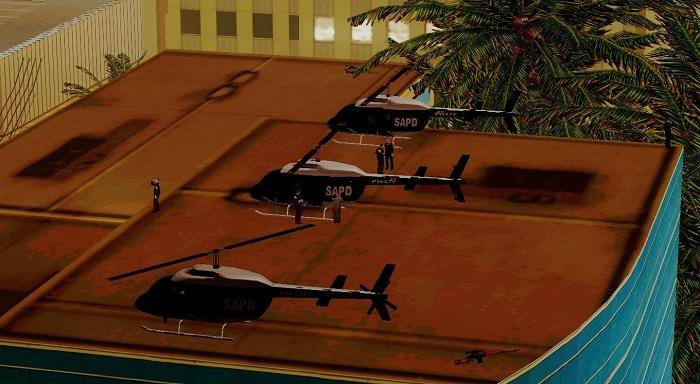 Вертолеты на крыше одного из участков. Не хватает только разметки