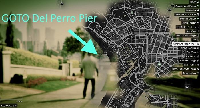 Местоположение пирса