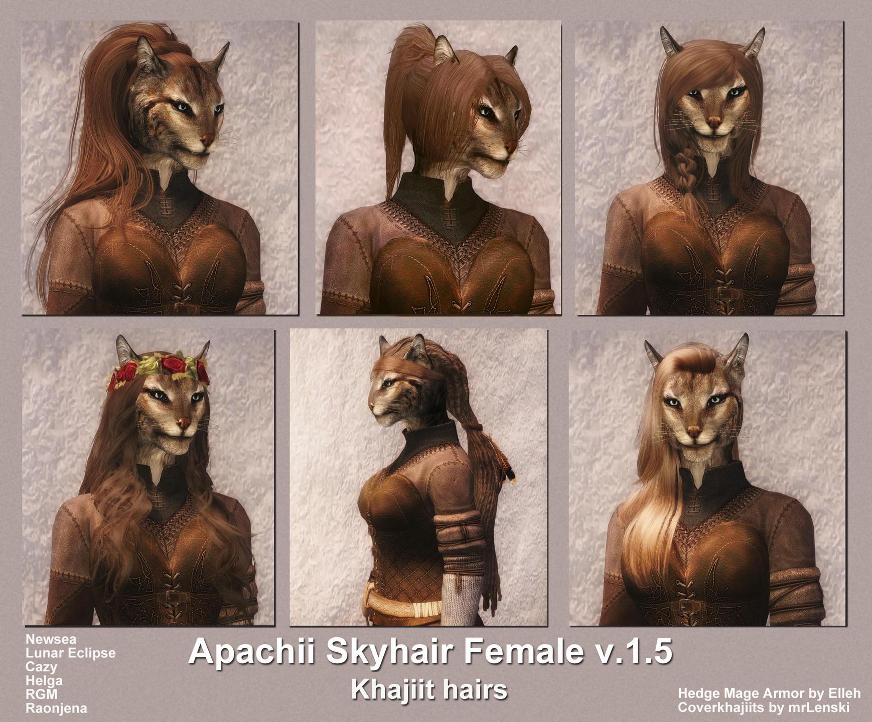 Skyrim SE: Причёски от Апачи