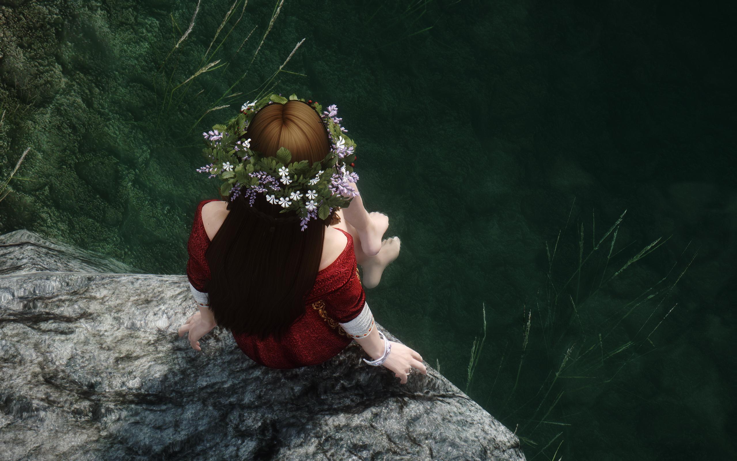 Skyrim SE: Офелия - украшения для волос