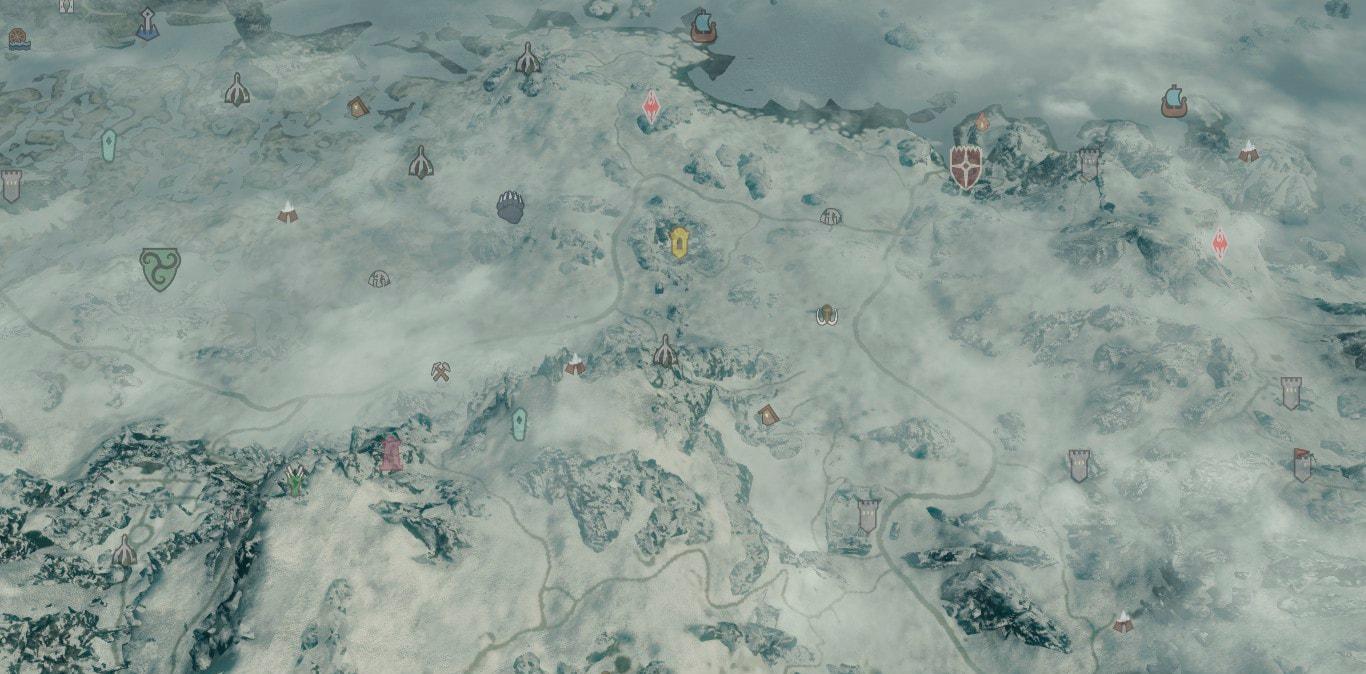 Skyrim SE: Цветные маркеры карты