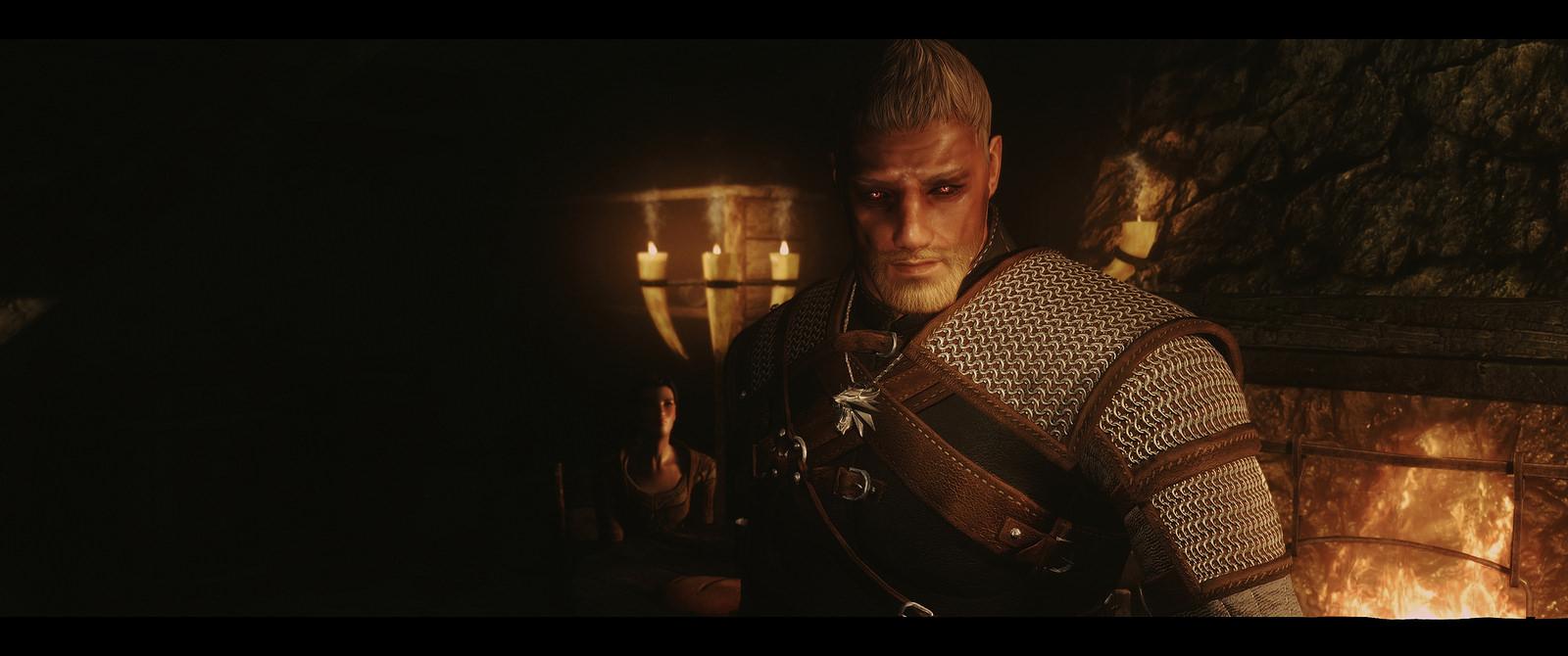 Skyrim SE: Сет брони Ведьмака