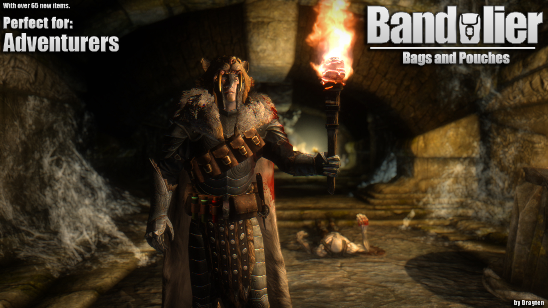 Skyrim SE: Bandolier - Bags and Pouches Classic