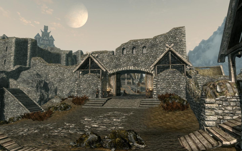 Skyrim SE: Открытые города Скайрима