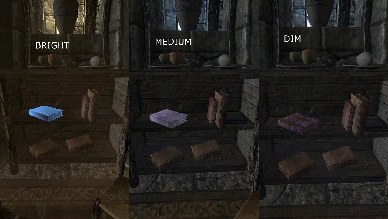 Skyrim SE: свечение непрочитанных книг