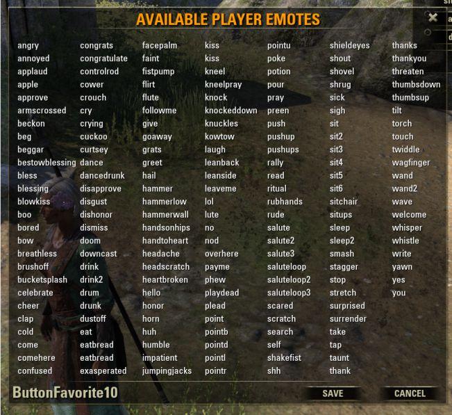 Более 170 эмоутов!