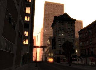 Вид на городскую улицу