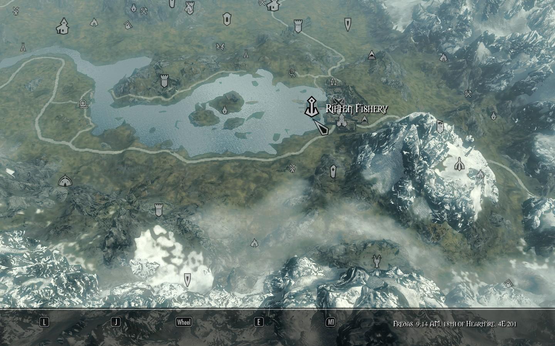 Skyrim SE: Дополнительные маркеры карты