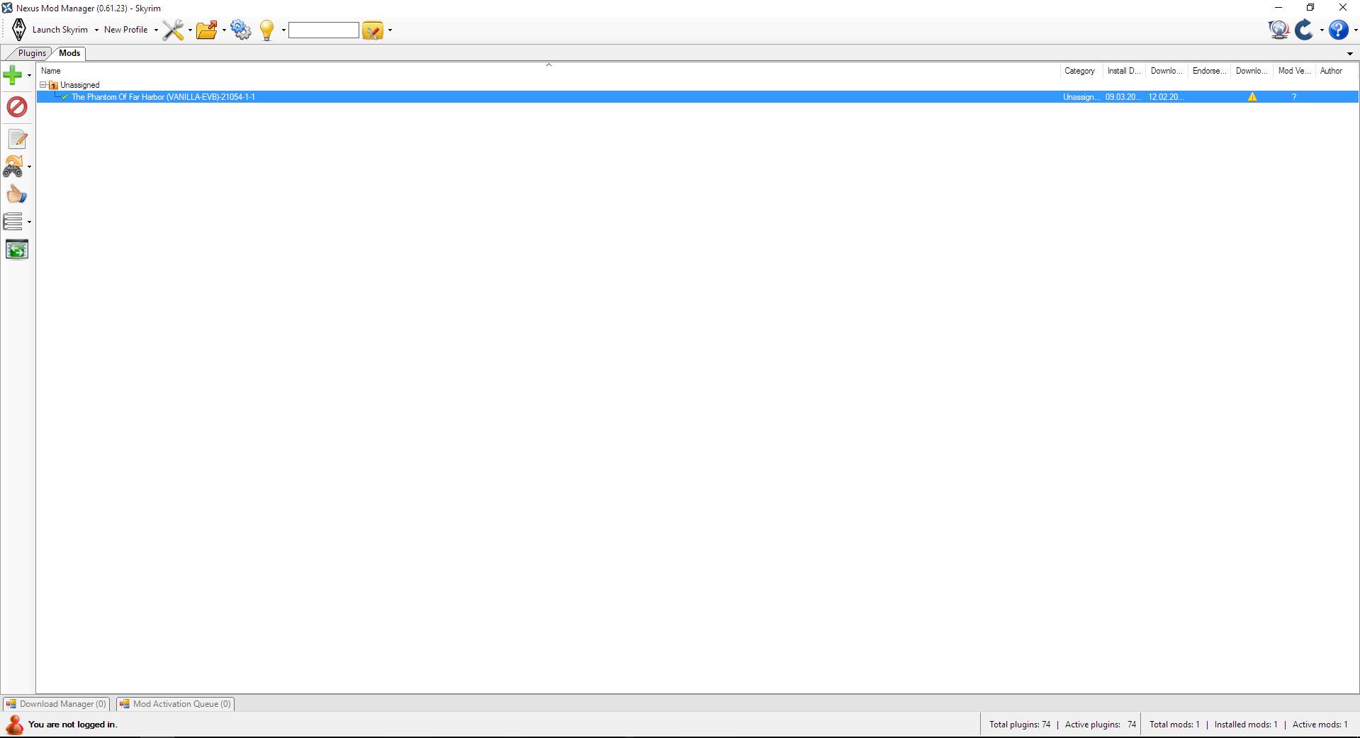 Skyrim SE: Nexus Mod Manager